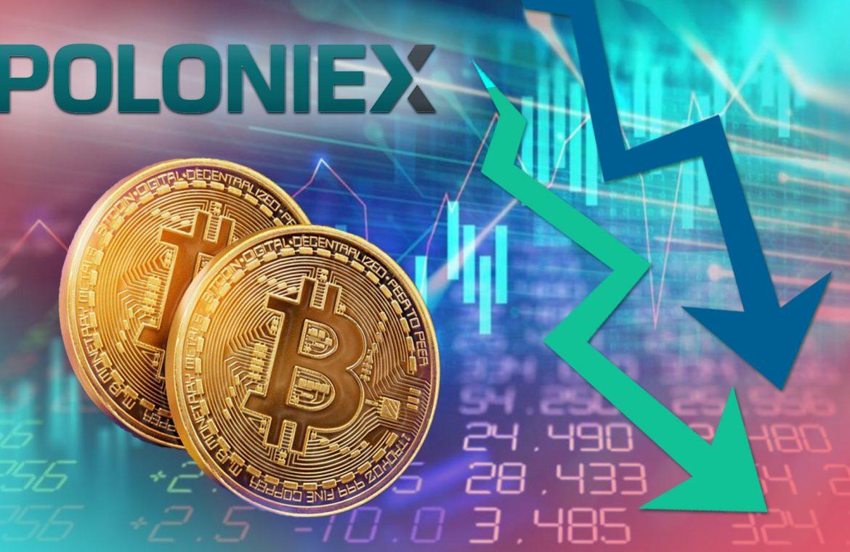 Резервы BTC на кошельках Poloniex значительно уменьшились