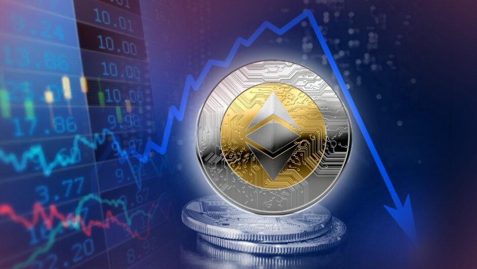 Ethereum упал на 35% за сутки: резкое сокращение капитализации крипторынка
